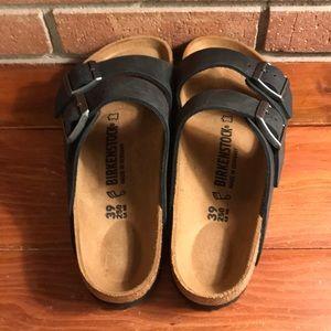 Birkenstock Shoes - Birkenstock Arizona waxy/oiled leather sandals 39